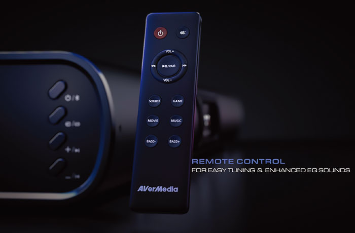 Side Control Panel and Remote Control