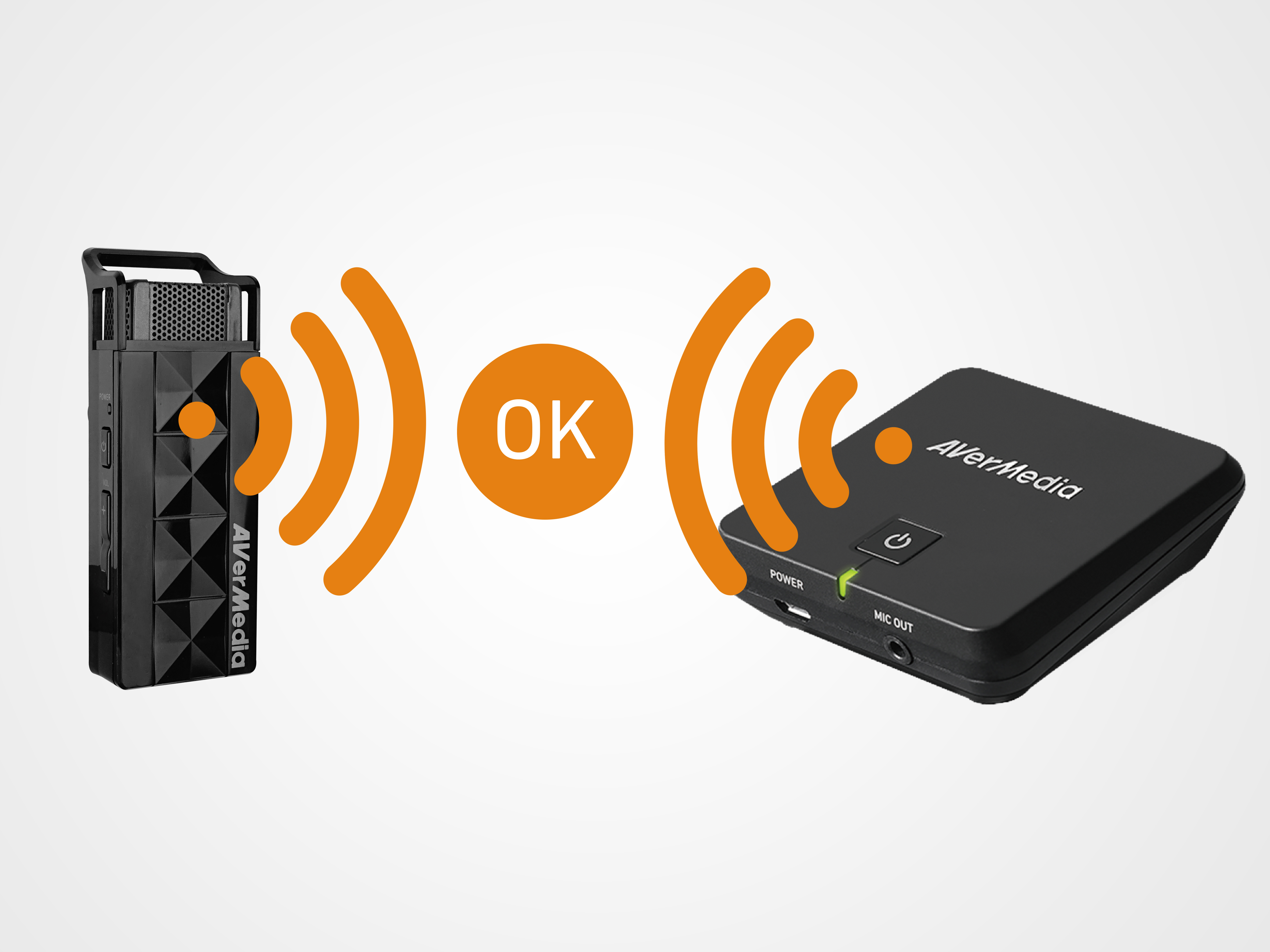The plug-and-play wireless receiver can be easily fit into any audio system.