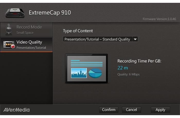 Dashboard is a user friendly PC utility for adjusting the ExtremeCap 910's settings.