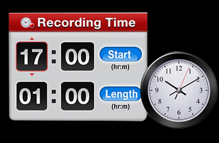 Record Timer. Schedule the recording. Timetable for your favorite channel.