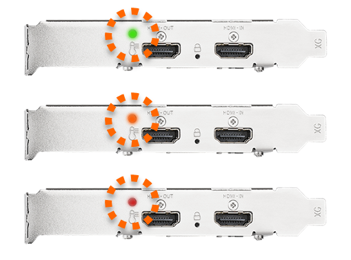 Built-in Signal-lock LED Indicator and RGB LED Temperature Indicator
