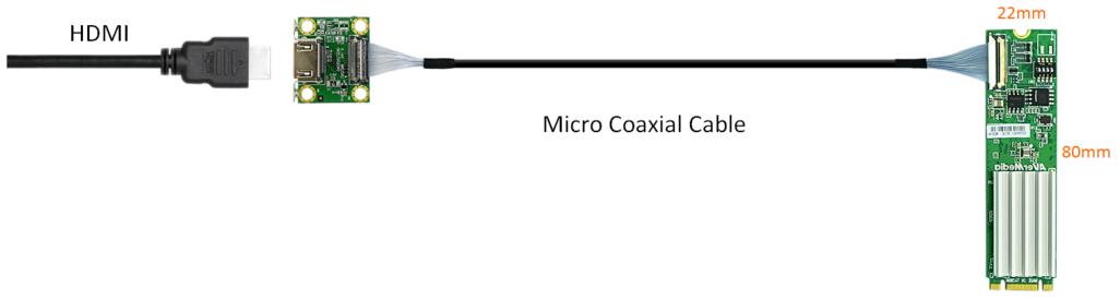 AVerMecia 4K HDMI M.2 Compact  Capture Card connection diagram CN311-H
