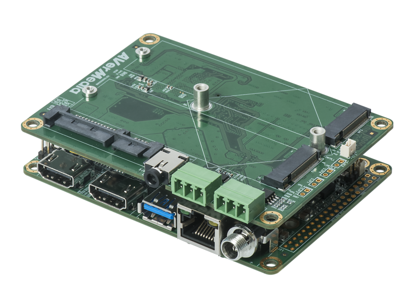 Tegra X1/X2 Carrier Board with compact design and extension