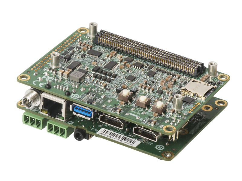 EX-731AA-N1 - Tegra X1/X2 Carrier Board with compact design and extension daughter board